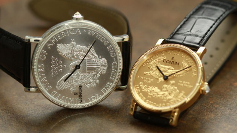 Corum Coin Silver and Gold Watch to Celebrate 50th Anniversary