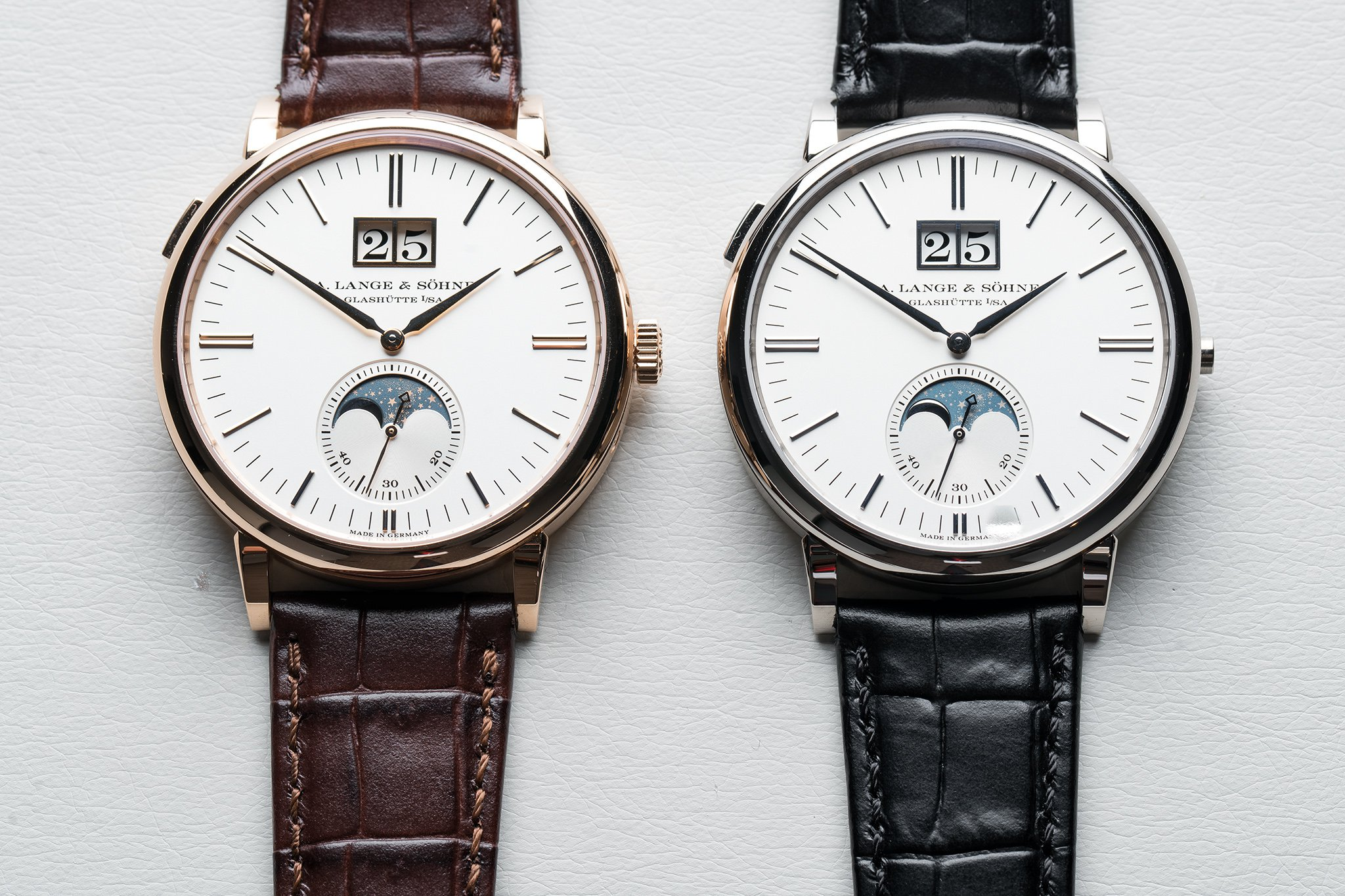 Lange & Sohne Saxonia Moon Phase Replica Watch