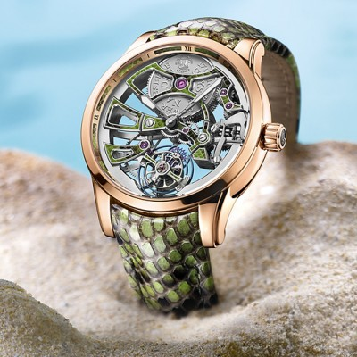 Preview The Pretty Ulysse Nardin Royal Python Skeleton Tourbillon Replica Watch