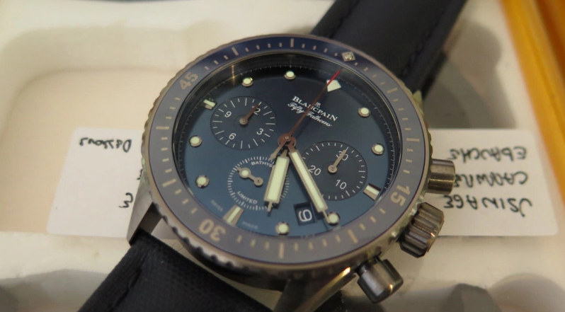 Detailed Review With The Blancpain Ocean Commitment Bathyscaphe Chronographe Flyback Replica