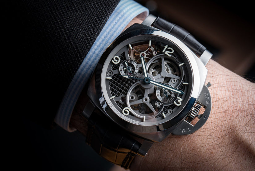 Panerai Lo Scienziato Luminor 1950 Tourbillon GMT Titanio Replica