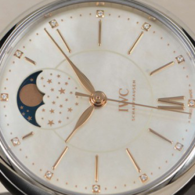 IWC Portofino Moonphase Low-key Luxury Charm White Dial Replica
