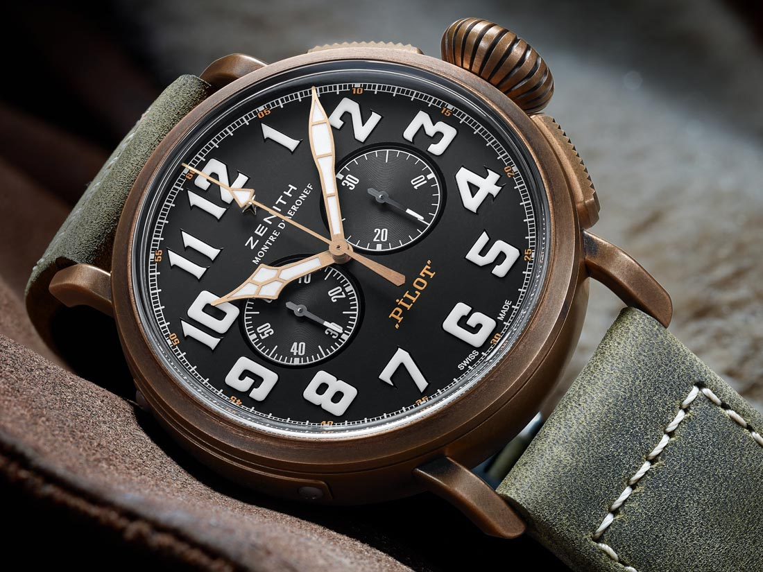On the Wrist:Zenith Heritage Pilot Extra Special Chronograph Men's Replica