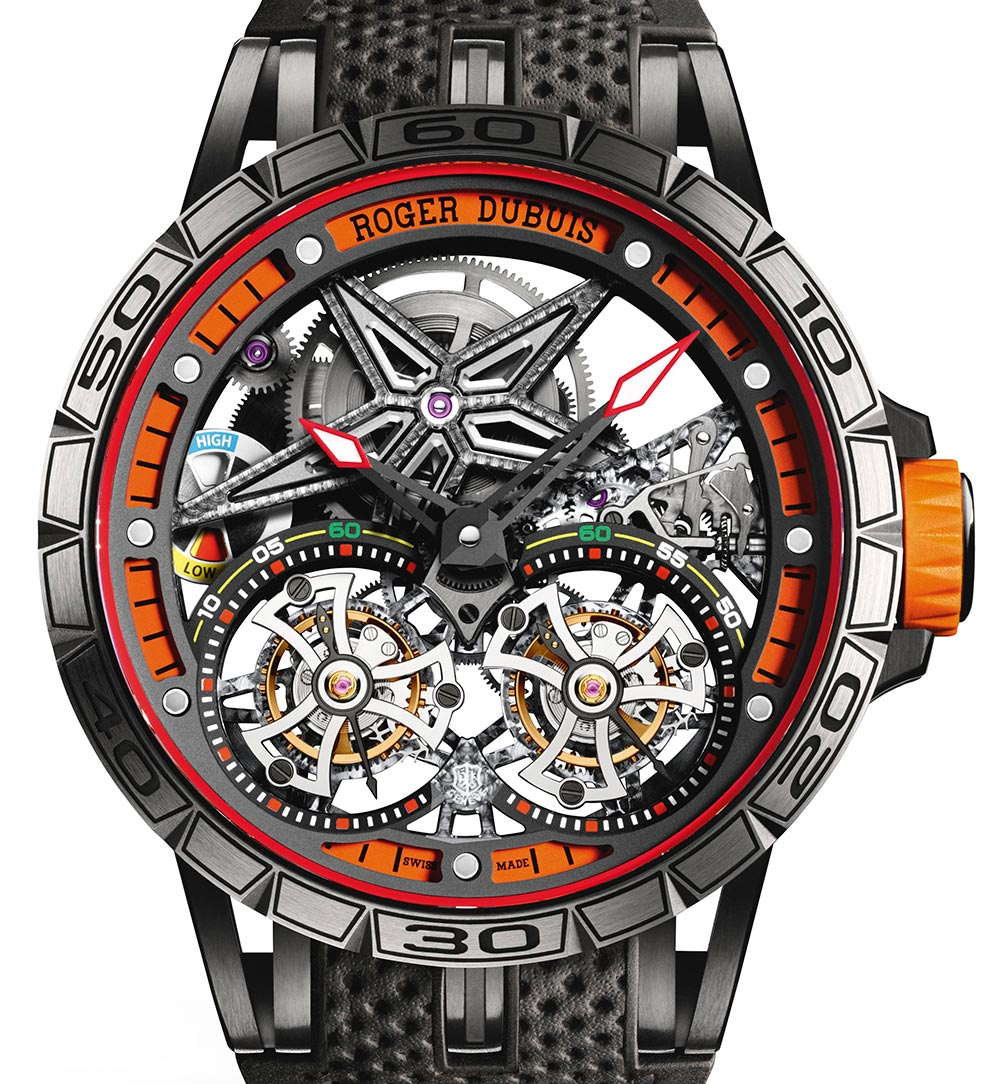 Detailed Review With The Roger Dubuis Excalibur Spider Double Flying Tourbillon Men's Replica Watch