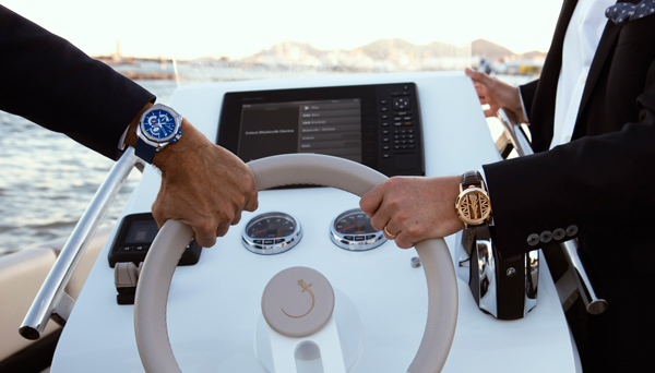 Corum on land and sea with Iguana Yachts