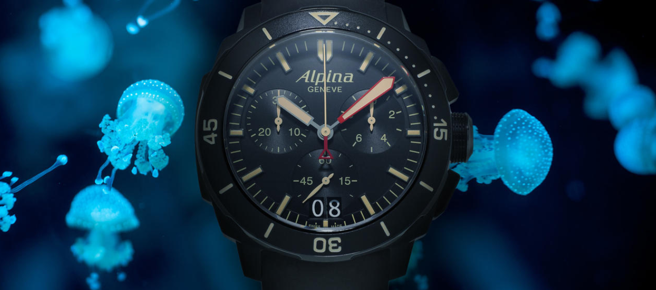 Show You The Alpina Seastrong Diver 300 Chronograph Big Date Replica